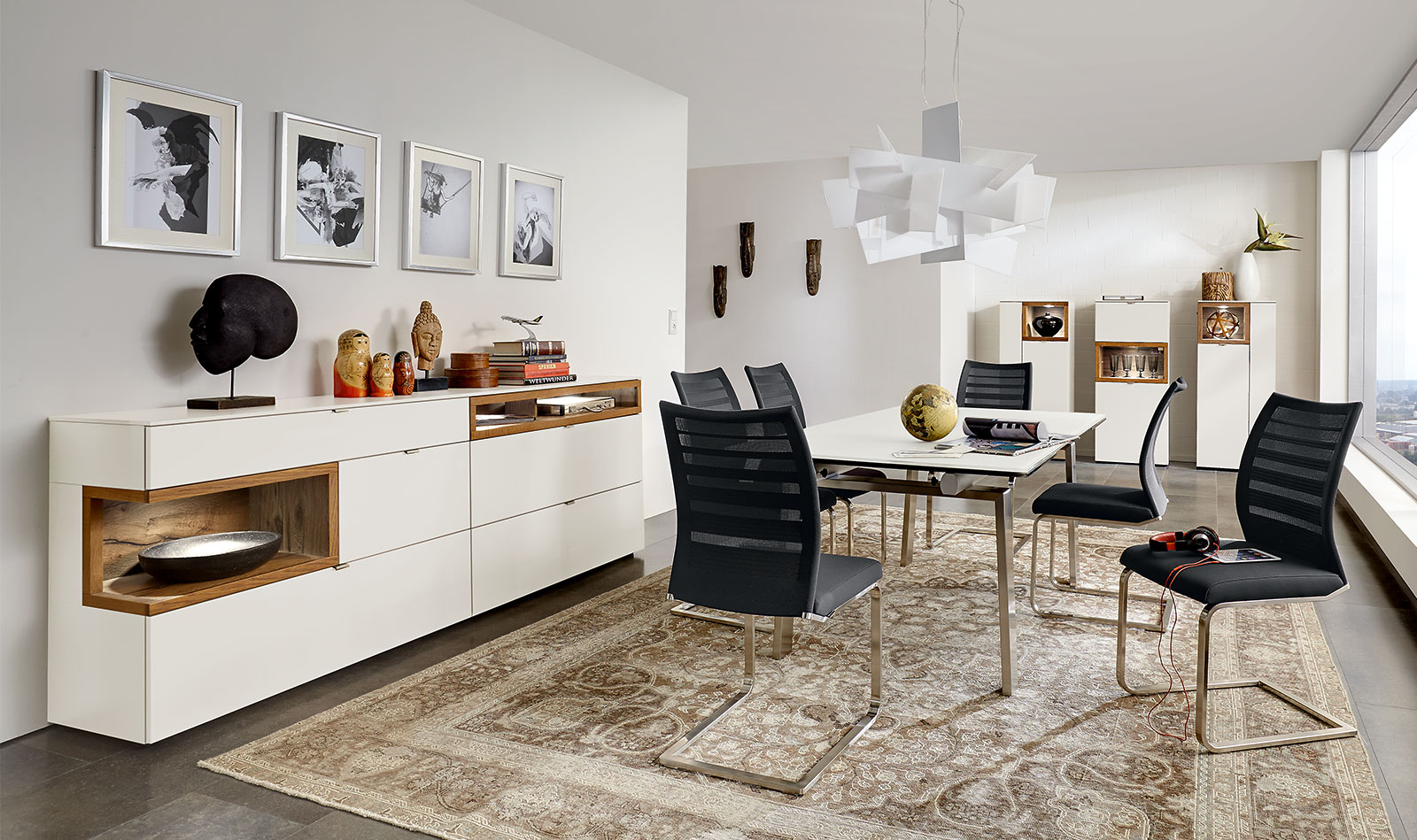 Esstisch 1134 | Stuhl 2203 | Kombination AN38 | Sideboard 7107