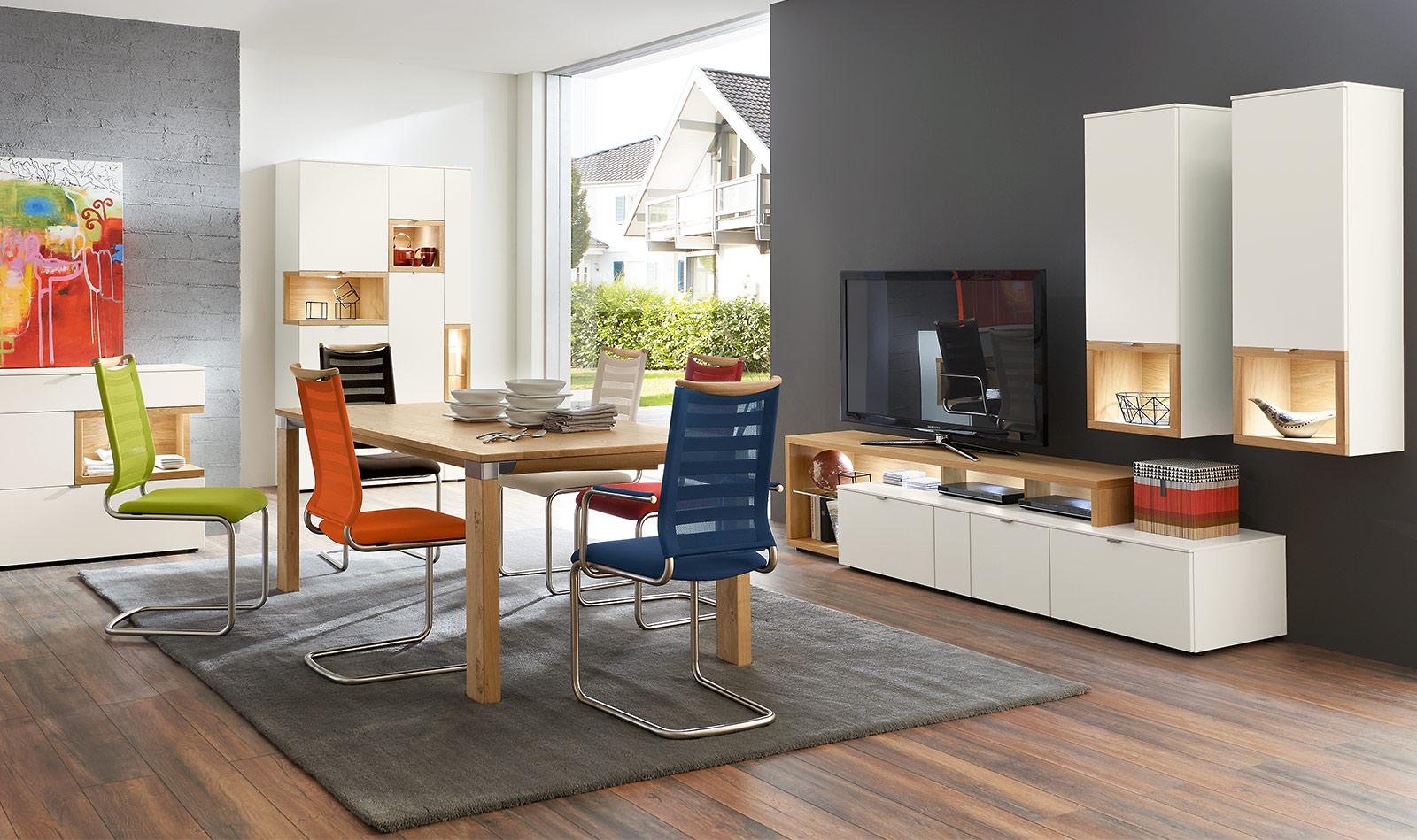 Sideboard Wohnzimmer Weiss Holz