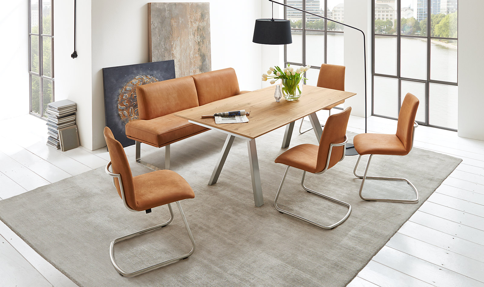 Dining Table 1592 | Chair 2381 | Bench P550 Amazing Ideas