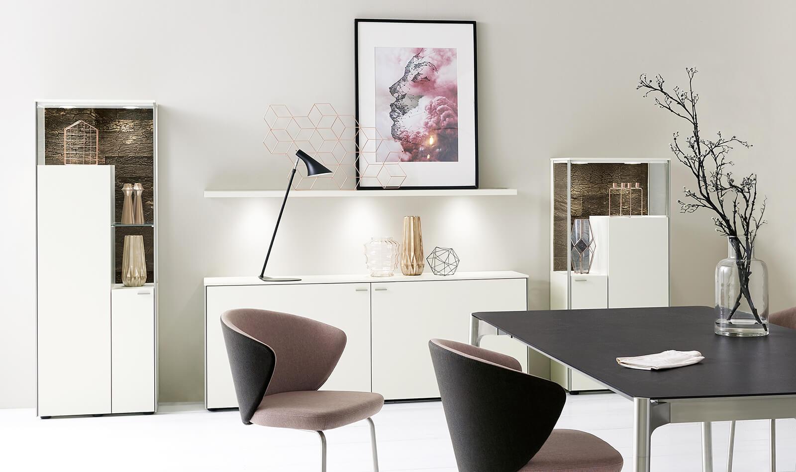dining rooms ranges sentino venjakob m bel vorsprung durch design und qualit t. Black Bedroom Furniture Sets. Home Design Ideas