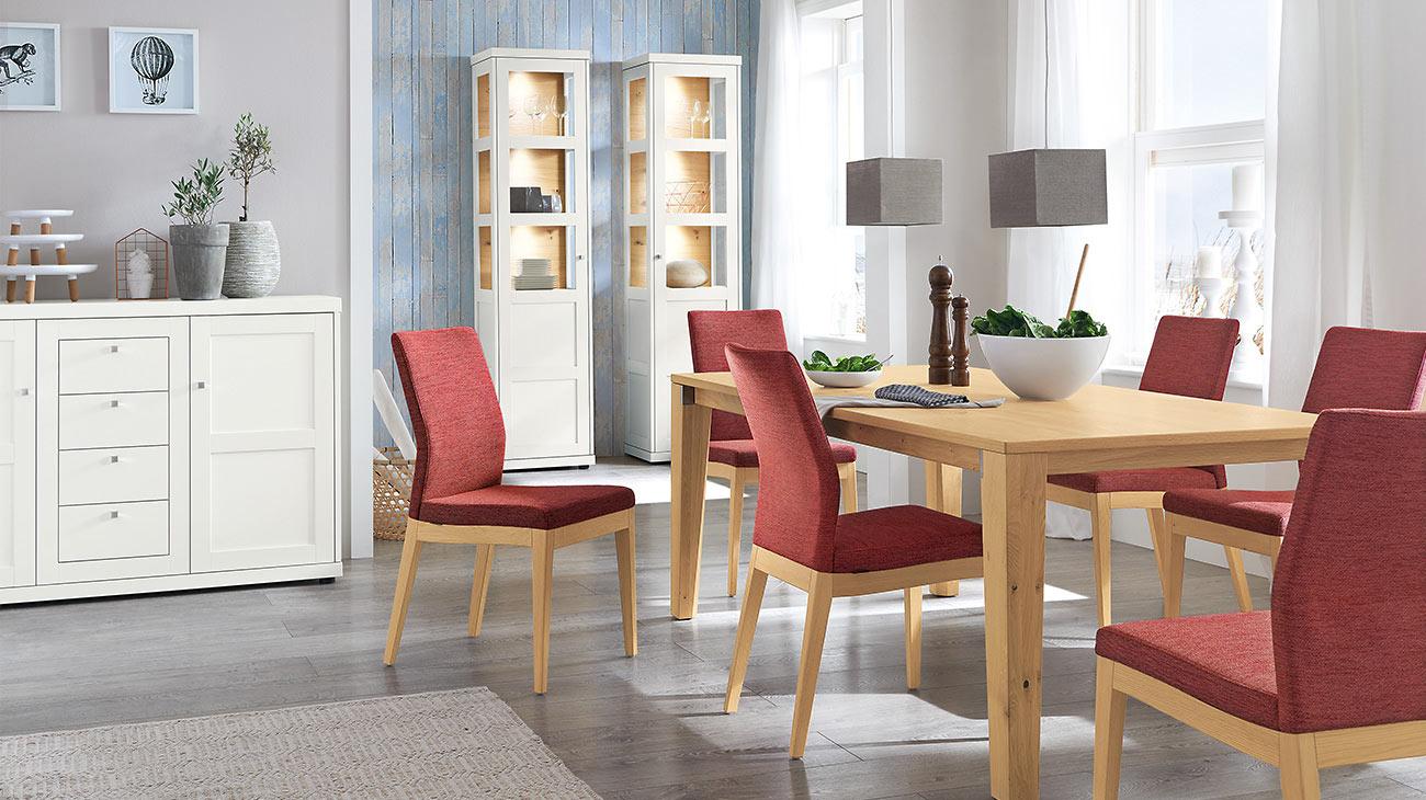 Geräumig Landhausmöbel Esszimmer Beste Wahl Esstisch 6028 | Stuhl 2521 | Sideboard