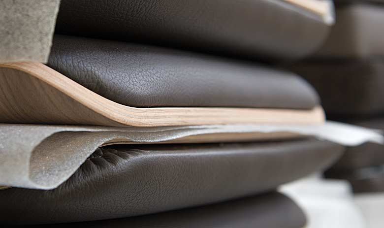 High quality leather for chairs and armchairs.
